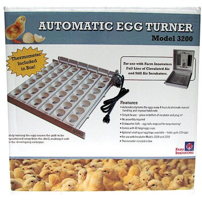 Automatic Egg Turner in White