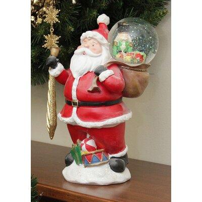 Santa Claus with Toy Sack Glitterdome Snow Globe Christmas Decoration