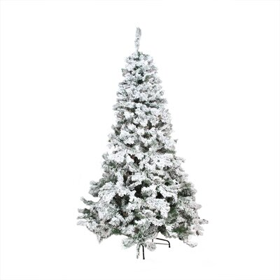 9' Heavily Flocked Pine Medium Artificial Christmas Tree