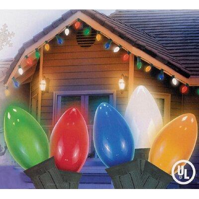25 Light Opaque C7 Patio Christmas Light Color: Multi/Green