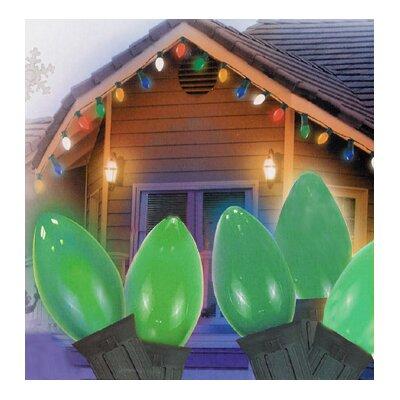 25 Light Opaque C7 Patio Christmas Light Color: Green