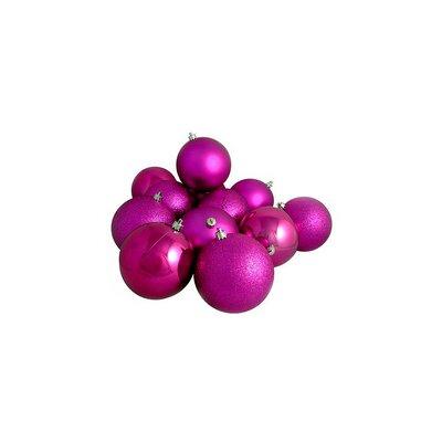 Shatterproof Christmas Ball Ornament Color: Magenta/Pink
