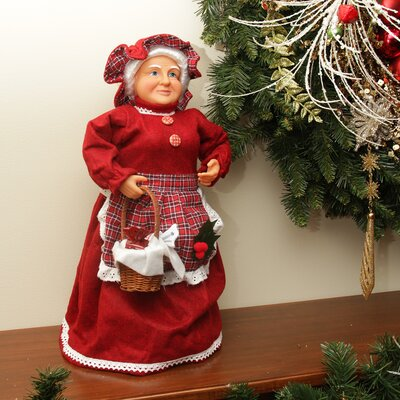 Mrs. Claus Basket of Sweets Christmas Tree Topper or Table Top Decoration