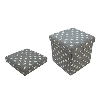 Star Collapsible Square Storage Ottoman