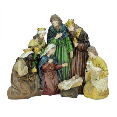 Religious Holy Family and Three Kings Christmas Nativity Scene Decoration