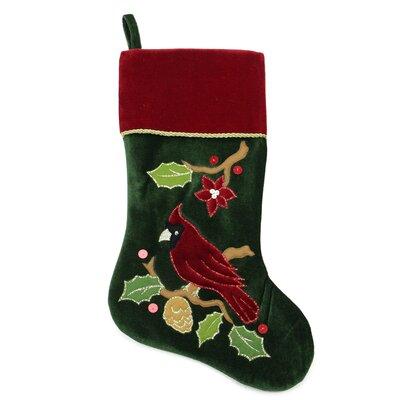Cardinal Embroidered Christmas Stocking