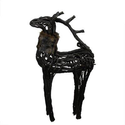 Wicker Standing Reindeer Christmas Decoration