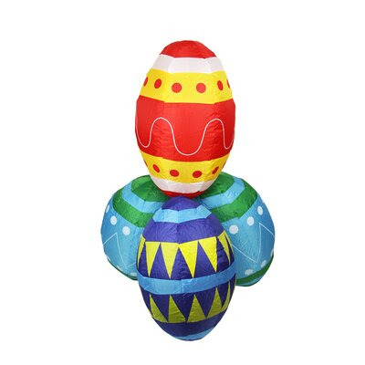 Inflatable Easter Eggs Stacks Decoration