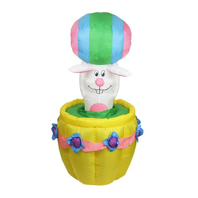 Inflatable Easter Bunny Basket Easter Decoration