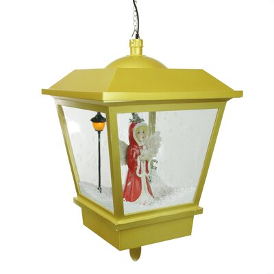 Snowing Angel Hanging Christmas Musical Street Lamp