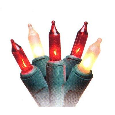 50 Light Mini Christmas Light Color: Red/Green