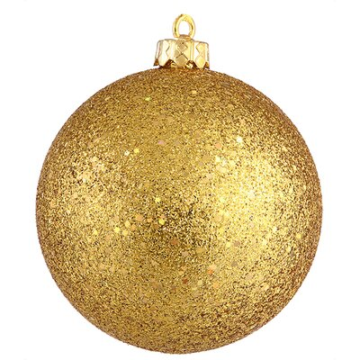 "Shatterproof Holographic Glitter Christmas Ball Ornament Size: 6"", Color: Antique Gold"