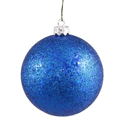 "Shatterproof Holographic Glitter Christmas Ball Ornament Size: 6"", Color: Lavish Blue"