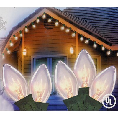 25 Light Transparent Christmas Light Color: Clear/White