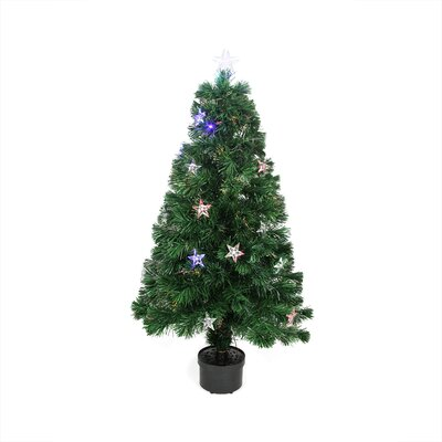4' Color Changing Fiber Optic Christmas Tree