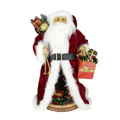 Musical Standing Santa Claus Figure with LED Christmas Scene E76443