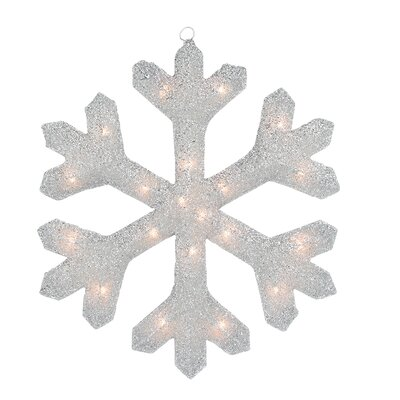 Tinsel Snowflake Christmas Window Decoration