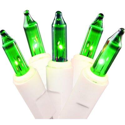 35 Light Mini Christmas Light Color: Green/White