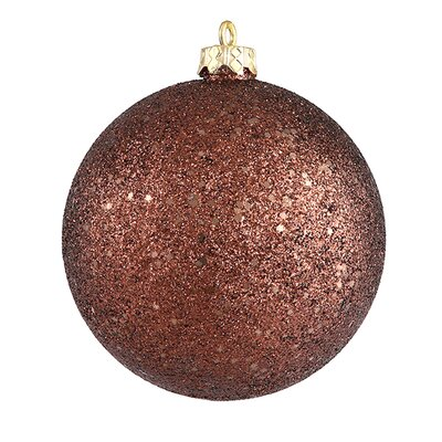"Shatterproof Holographic Glitter Ball Christmas Ornament Size: 6"", Color: Mocha / Brown"