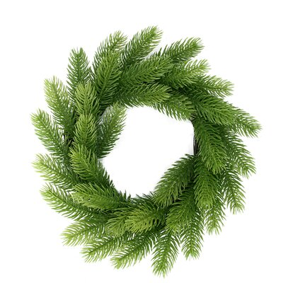 Two-Tone Mini Frasier Fir Artificial Christmas Wreath