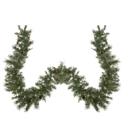 Pre-lit Snow Mountain Pine Artificial Christmas Garland