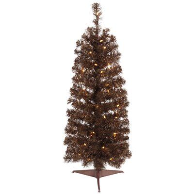 2' Pencil Artificial Christmas Tree with 35 Clear Light