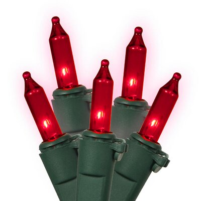 Commercial Grade Mini Christmas Light (Pack of 100) Color: Red