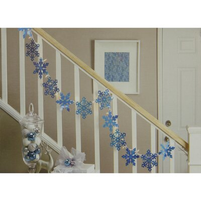 Holographic Snowflake Christmas Light Garland with 35 Mini Light Color: Blue