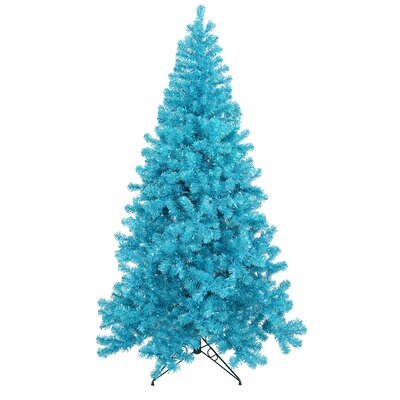 7' Sparkling Artificial Christmas Tree with 500 Teal Light