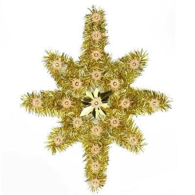 Oversize Lighted Tinsel Star of Bethlehem Christmas Tree Topper