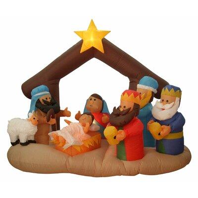 Inflatable Nativity Scene Lighted Christmas Decoration