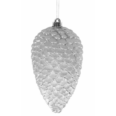 Shatterproof Pine Cone Christmas Ornament Color: Silver