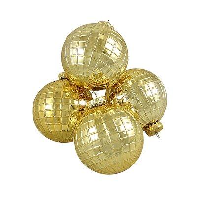 Disco Ball Shatterproof Christmas Ball Ornament Color: Gold