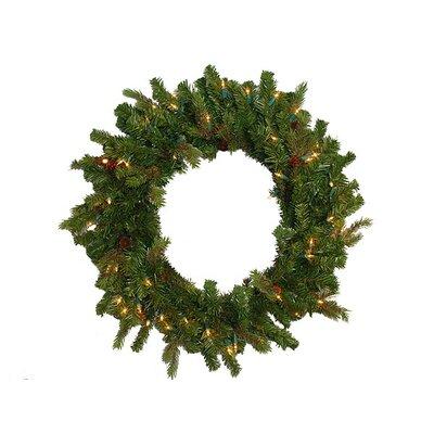 Hunter Fir Pre-Lit Artificial Christmas Wreath