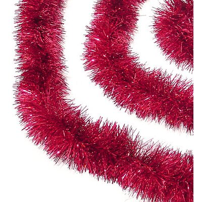 Soft and Sassy Christmas Tinsel Garland with Unlit Color: Red