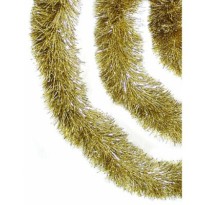 Soft and Sassy Christmas Tinsel Garland with Unlit Color: Champagne Gold