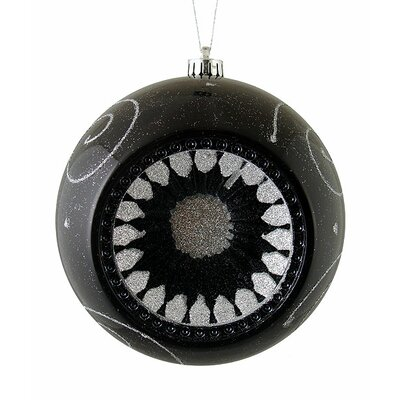 Retro Reflector Shatterproof Christmas Ball Ornament Color: Black/Silver
