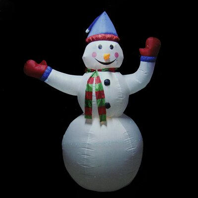 Animated Inflatable Lighted Standing Snowman Christmas Decoration LB INTERNATIONAL 19337