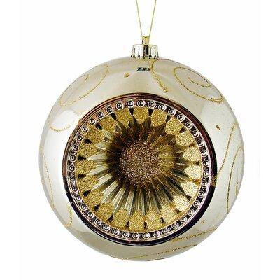 Retro Reflector Shatterproof Christmas Ball Ornament Color: Champagne