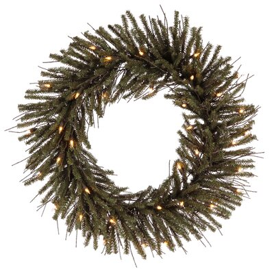 Vienna Twig Artificial Christmas Wreath with Clear Light