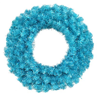 Sparkling Artificial Christmas Wreath Color: Sky Blue/Teal