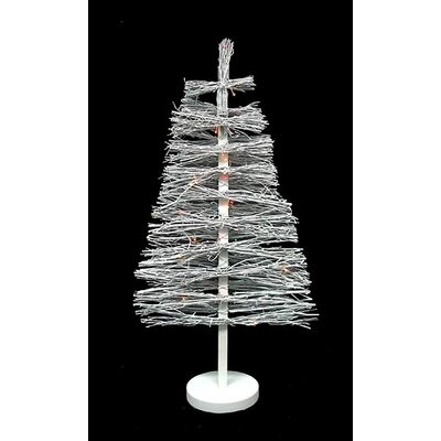 3' White Country Twig Artificial Christmas Tree with 48 Multi Light