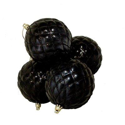 "Diamond Shatterproof Christmas Ball Ornament Size: 3.75"" W x 3.75"" D, Color: Jet Black"