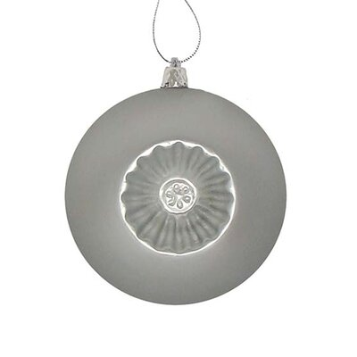 Retro Reflector Shatterproof Christmas Ball Ornament Color: Silver