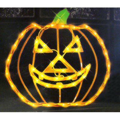 Lighted Halloween Jack o Lantern Pumpkin Window Silhouette Decoration 85503