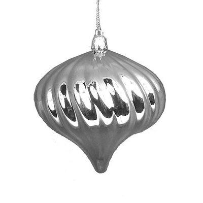 "Diamond Shatterproof Christmas Ball Ornament Size: 4"" W x 4"" D, Color: Silver Splendor"