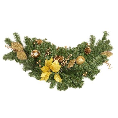 Pre Decorated Apple and Berry Artificial Christmas Swag K396534S