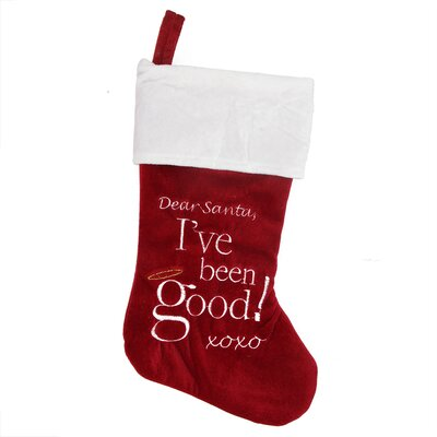 Dear Santa Halo Embroidered Christmas Stocking
