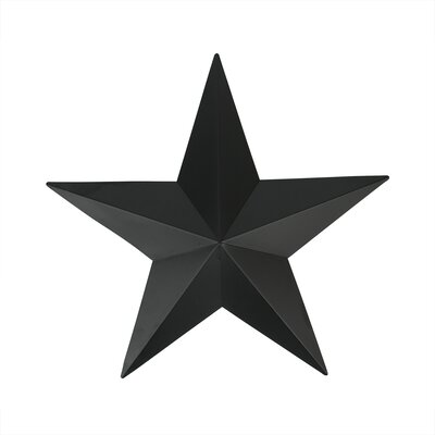 Country Rustic Star Indoor/Outdoor Wall Decoration Color: Matte Black TF13021-B