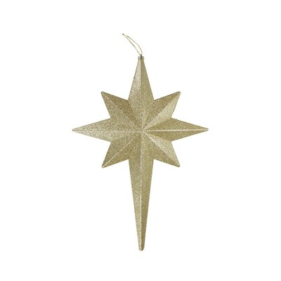 Glittered Bethlehem Star Shatterproof Christmas Ornament Color: Champagne